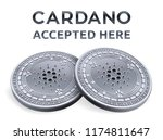 cardano. accepted sign emblem.... | Shutterstock .eps vector #1174811647