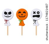 colorful halloween candy  ... | Shutterstock .eps vector #1174821487