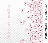 social media icons. social...   Shutterstock .eps vector #1174824664