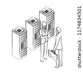 businessmen with server data...   Shutterstock .eps vector #1174834501