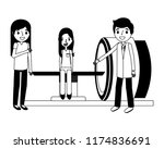 staff medical with patient and... | Shutterstock .eps vector #1174836691