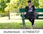 portrait of a beautiful asian...   Shutterstock . vector #1174836727