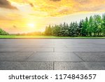 empty city square floor and... | Shutterstock . vector #1174843657