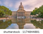 Alberta Legislature Building in the autumn evening. Edmonton. Alberta. Canada.