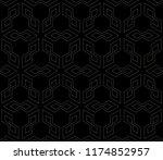 vector seamless pattern  simple ... | Shutterstock .eps vector #1174852957