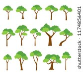 collection of trees vector on...   Shutterstock .eps vector #1174856401