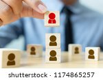 human resources management and... | Shutterstock . vector #1174865257
