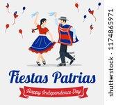 fiestas patrias   independence... | Shutterstock .eps vector #1174865971