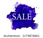sale tag on ink blot. | Shutterstock . vector #1174876861
