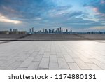 panoramic skyline and modern... | Shutterstock . vector #1174880131