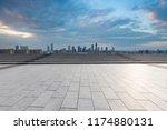 panoramic skyline and modern... | Shutterstock . vector #1174880131