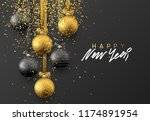 happy new year. christmas... | Shutterstock .eps vector #1174891954