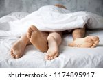 close up of passionate lovers... | Shutterstock . vector #1174895917