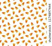Candy Corn Seamless Pattern  ...