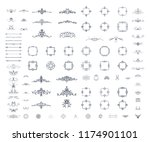 vintage decor elements and... | Shutterstock .eps vector #1174901101
