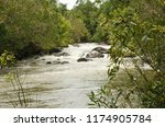 white tides of the river in the ... | Shutterstock . vector #1174905784