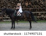 equine therapy  recreation... | Shutterstock . vector #1174907131