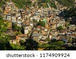 colorful favela in rio de...   Shutterstock . vector #1174909924