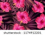 pink red exotic pattern.... | Shutterstock .eps vector #1174912201