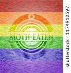 moth eaten on mosaic background ...   Shutterstock .eps vector #1174912597