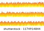 cartoon fire flame frame...   Shutterstock .eps vector #1174914844
