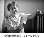 old woman serenity look  black... | Shutterstock . vector #117491971