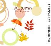 umbrella falling leaves...   Shutterstock .eps vector #1174922671