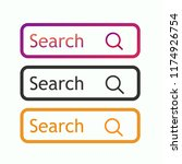 set buttons search . vector...