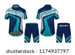 cycling jerseys mockup t shirt... | Shutterstock .eps vector #1174937797