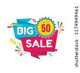 big sale   vector creative... | Shutterstock .eps vector #1174949461