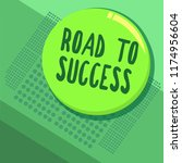 writing note showing road to... | Shutterstock . vector #1174956604