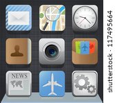 set of detailed app buttons on... | Shutterstock .eps vector #117495664