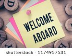 text sign showing welcome... | Shutterstock . vector #1174957531