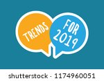 writing note showing trends for ...   Shutterstock . vector #1174960051