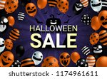 halloween sale banner with... | Shutterstock .eps vector #1174961611