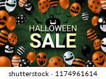halloween sale banner with... | Shutterstock .eps vector #1174961614