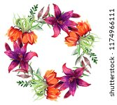 frames for congratulation with ... | Shutterstock . vector #1174966111