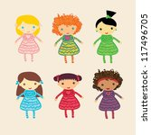 girls collection | Shutterstock .eps vector #117496705
