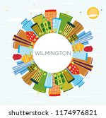 wilmington delaware city... | Shutterstock .eps vector #1174976821