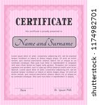 pink diploma template....   Shutterstock .eps vector #1174982701