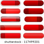 set of blank red buttons for... | Shutterstock .eps vector #117499201