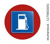 gasoline  icon in badge style....