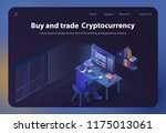 buy and trade cryptocurrency.... | Shutterstock .eps vector #1175013061