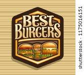 vector logo for best burgers ... | Shutterstock .eps vector #1175016151