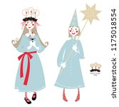 saint lucy s day. st. lucia... | Shutterstock .eps vector #1175018554