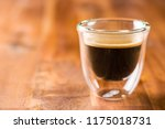 cup of espresso coffee on... | Shutterstock . vector #1175018731