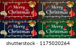 merry christmas and happy new... | Shutterstock .eps vector #1175020264