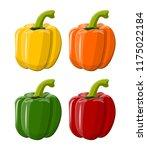 pepper bell vegetable isolated... | Shutterstock .eps vector #1175022184