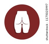 male buttocks icon in badge...