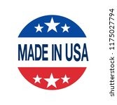 made in usa sign vector | Shutterstock .eps vector #1175027794